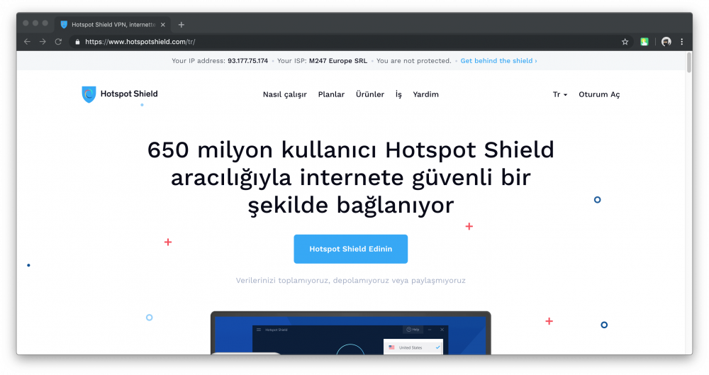 Hotspot Shield VPN incelemesi